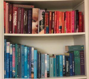 Boeken geordend op kleur